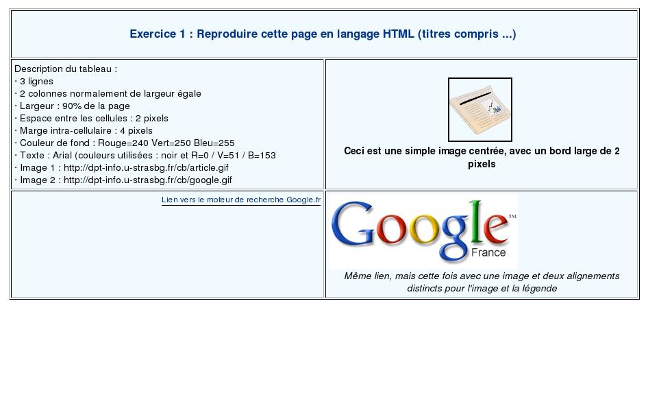Exercice D Introduction Au Langage Html